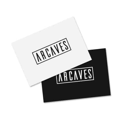 ARCAVES Logo Postcards